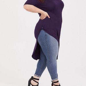 Torrid super soft purple side twist tunic